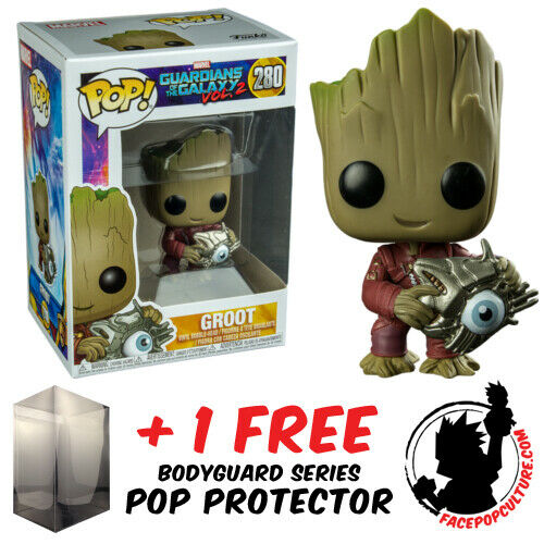FUNKO POP VINYL GUARDIANS OF THE GALAXY 2 GROOT WITH CYBER EYE #280 EXCLUSIVE