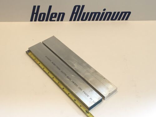 """2 Pieces 5//8/"""" X 2/"""" X 12/"""" Long Aluminum Flat Bar Stock 6061-T6511"""