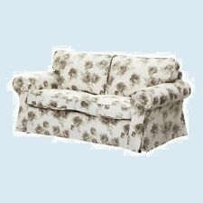 IKEA Ektorp Norlida 2 Seat Loveseat Sofa Slipcover NEW Cover Beige Floral  Rose