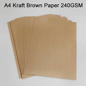 100x a4 240gsm thick brown kraft natural recycled paper sheet image is loading 100x a4 240gsm thick brown kraft natural recycled stopboris Images
