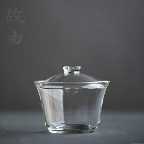 Haute Qualité Verre Clair Gongfu Tea Gaiwan Couvercle Tasse à thé 210 ml 7.1 floz