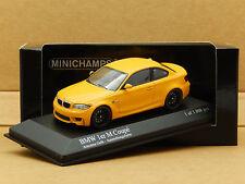 1/43 BMW 1M Coupe E82 2011 Atacama Yellow Minichamps Diecast Model 410 020027