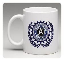 STAR TREK COFFEE - Joke White Porcelain Mug - Fun Gift Mug With Logo Novelty New