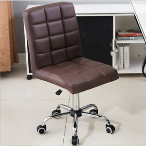Office Task Chair Executive Armless Rolling Stool MidBack ...