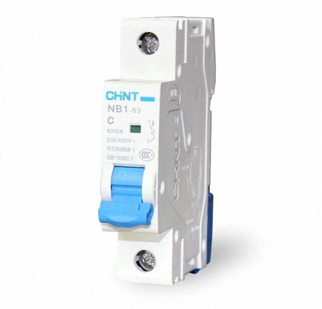 1PCS CHINT Circuit breaker MCB NB1-63 C Type 230//400V 1Pole 2Amp