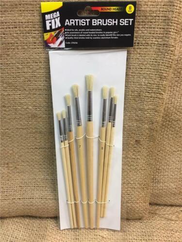 CLEARANCE ligne P15 Artist Brush Set manches en bois huiles acryliques aquarelles