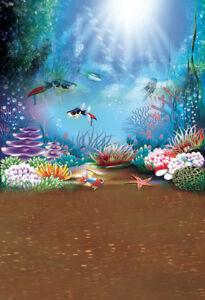 Scene 5x7ft Studio Background Vinyl Photo Backdrop Under The Sea Props Show Baby