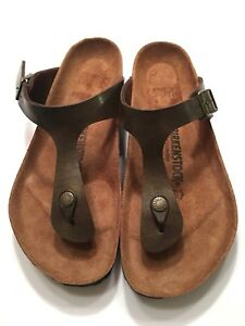 149de5ebf9bc Image is loading Birkenstock-Gizeh-Birko-Flor-Golden-Brown-Size-40
