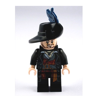 Lego Hector Barbossa Minifigura De Set 4181 Piratas Del Caribe-poc004