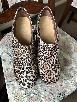 Heel Less Leopard Print Shoes Size UK 7