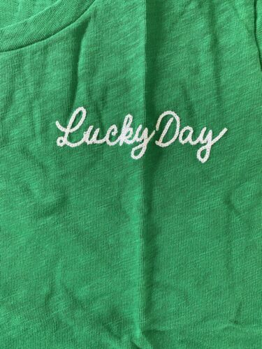 """Crew Factory Women's /""""Lucky/"""" Collector/'s T Shirt NWT Green Details about  /J"""