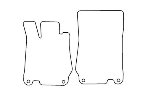 Exclusive Fußmatten für Mercedes SL R230 beste Qualität Velours Metal Logo Neu