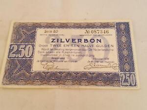 Billet Pays-bas 2,50 Zilverbon De 1938-afficher Le Titre D'origine