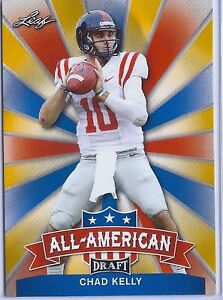 CHAD-KELLY-2017-LEAF-DRAFT-ALL-AMERICAN-GOLD-PARALLEL-ROOKIE-CARD-OLE-MISS