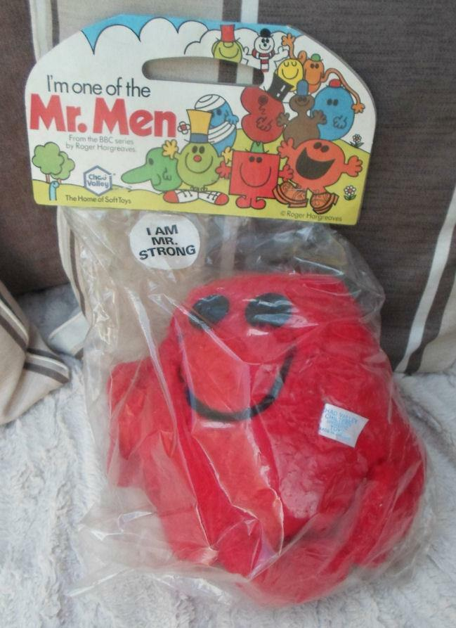 MR MEN MR STRONG PLUSH 1978 BBC Roger Hargreaves Chad Valley Vintage NEW
