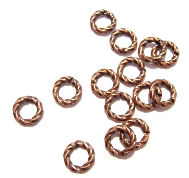 Jump Ring Rose Gold Antiqued Copper Jumprings Connector Brass Twisted 100 Qty