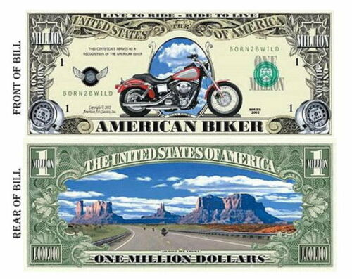 SET OF 10 AMERICAN BIKER BILL FREE USA SHIPPING GREAT GIFT FOR HARLEY RIDER