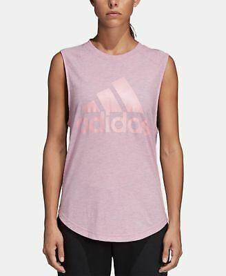adidas id logo tank top prism pink l nwot  ebay
