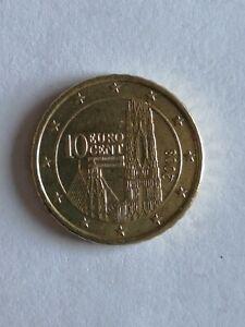 Pièce 10 Euros Cent Autriche 2008