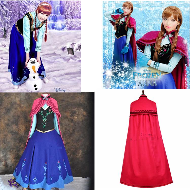 Anna Prinzessin Karneval Kostüm Damen Frozen Herren Frauen Frozen Kleider Party