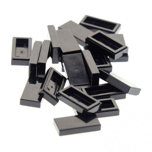 20x Lego Carreau Noir 1x2 Pierre Rainure Star Wars Set 75101 7785 3069b