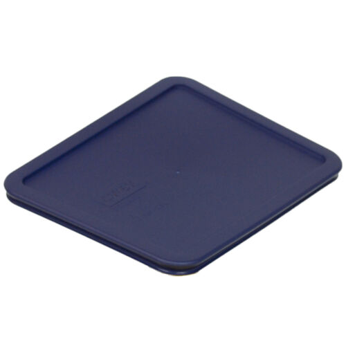 Pyrex Rectangular 6 Cup Storage Lid Cover Dark Blue 7211-PC New for Glass Dish