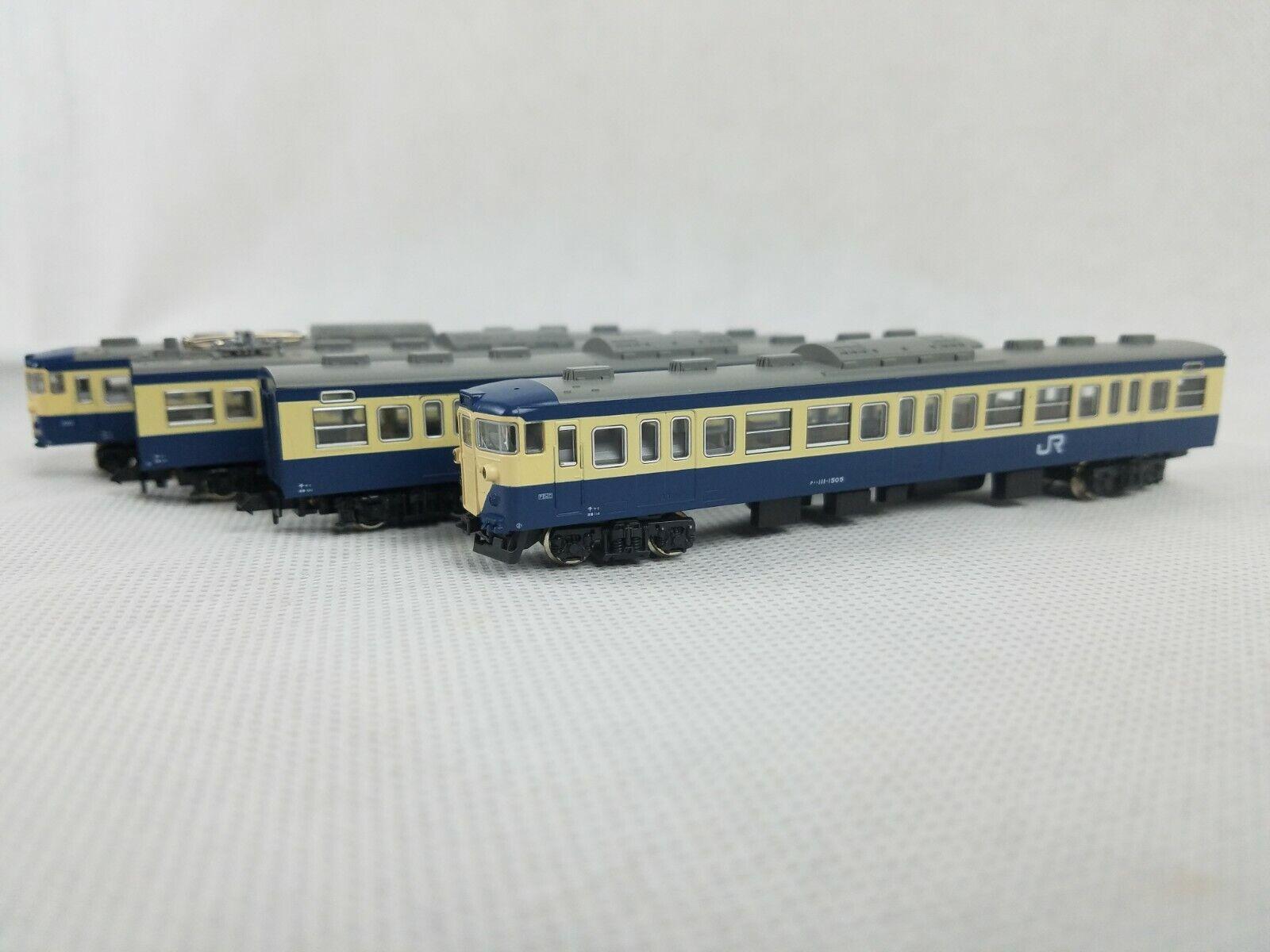N Scale Kato 10-197 113-1500 Series (Yokosuka Line Line Line color) 4 Car Train Set d8952b