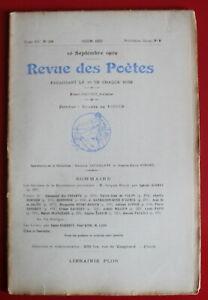1909-Revue-des-Poetes-N-136-E-des-Essarts-X-J-de-Valon-Ch-Dornier