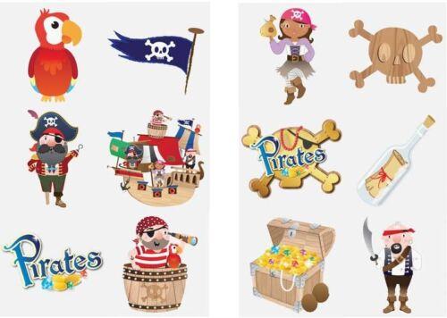 Pirate Pirates tatouages temporaires Parti Loot Sac Remplissage Enfants Garçons Filles