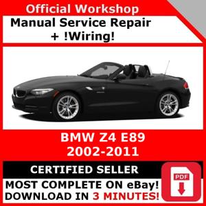 factory workshop service repair manual bmw z4 e89 2002 2011 ebay rh ebay com BMW Motorcycle Manuals BMW Motorcycle Manuals