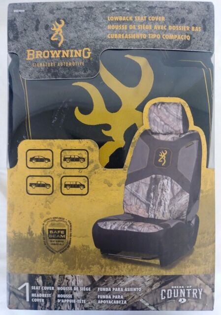 Mossy Oak Camo Seat Cover Low Back with Head Rest Break-Up Country Single