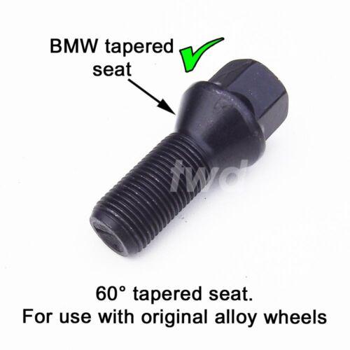 K25 Noir Alliage Boulon de roue pour BMW Série 3 F30 F31 M3 M14x1.25 écrou 2011+