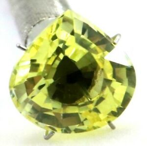 10.20 Ct Natural Yellow Sapphire Pear Cut AGSL Certified Loose Gemstone