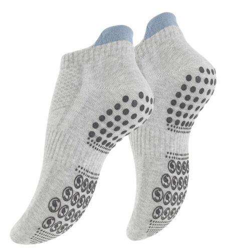 Pilates 3 Paire antidérapante Chaussettes de sport Trampoline... Butées Chaussettes Pour Yoga