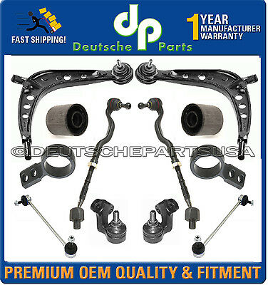 New Control Arm Ball Joint Tie Rods Sway for BMW 325i Rear Wheel Drive E46 01-05