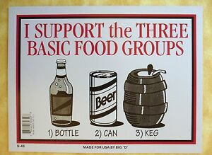Funny beer sign i support the three basic food groups bottle can keg image is loading funny beer sign i support the three basic publicscrutiny Image collections