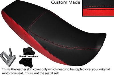 WHITE /& BLACK CUSTOM FITS TMEC 125 ENDURO DUAL LEATHER SEAT COVER ONLY