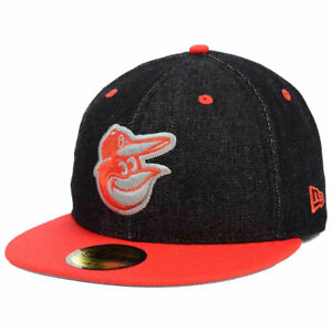 finest selection 74327 b15b2 Image is loading Baltimore-Orioles-New-Era-MLB-Black-Denim-5950-