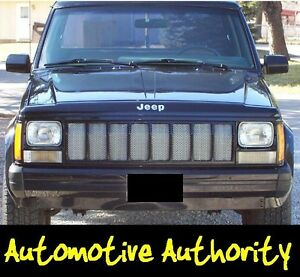 CHROME-MESH-GRILLE-GRILL-KIT-For-JEEP-CHEROKEE-87-88-89-90-91-92-93-94-95