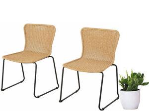 2x Rattanstuhl Esszimmerstuhl Küchenstuhl Stuhl Polyrattan Landhaus