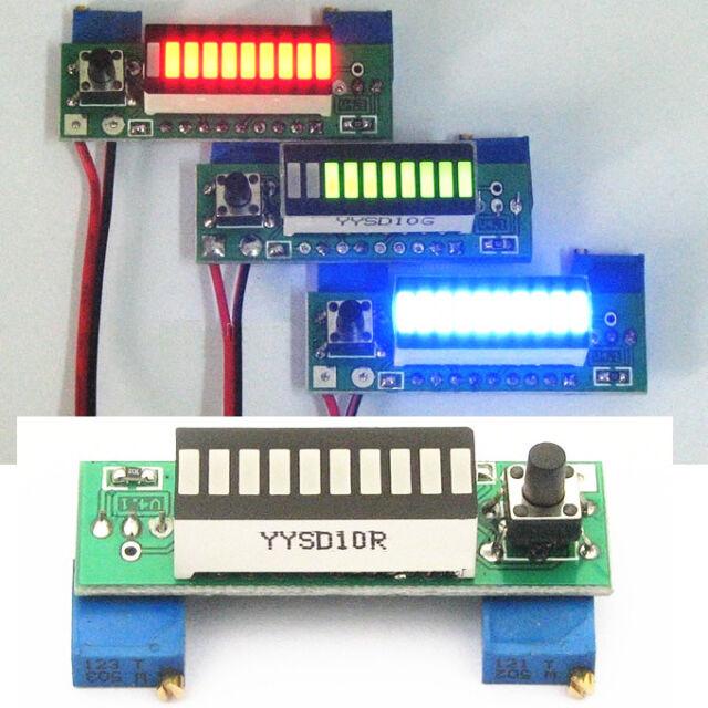 Battery Capacity Power Level LED Indicator LM3914 DIY for Li-ion Battery 3.7V S