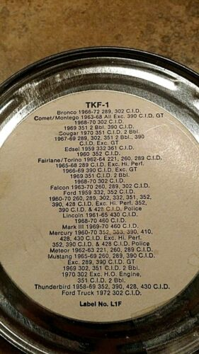1958-72 Ford Mustang Thunderbird 289 302 332 351 390 428 NOS Tune-Up Kit TKF-1