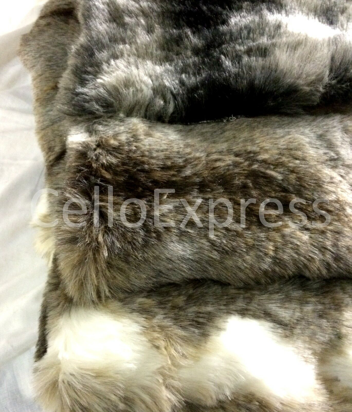 Striped Faux Fake Luxury Luxury Luxury Fur Fabric 25mm Pile Teddy Bear & Animal Toy Craft 9994dc