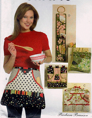 5441 McCall's Barbara Brunson Pattern Apron. Wall Organizer  Pocket Pillow Uncut