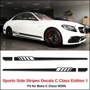Edition 1 Side Stripes Decal Sticker For Mercedes Benz W205 C
