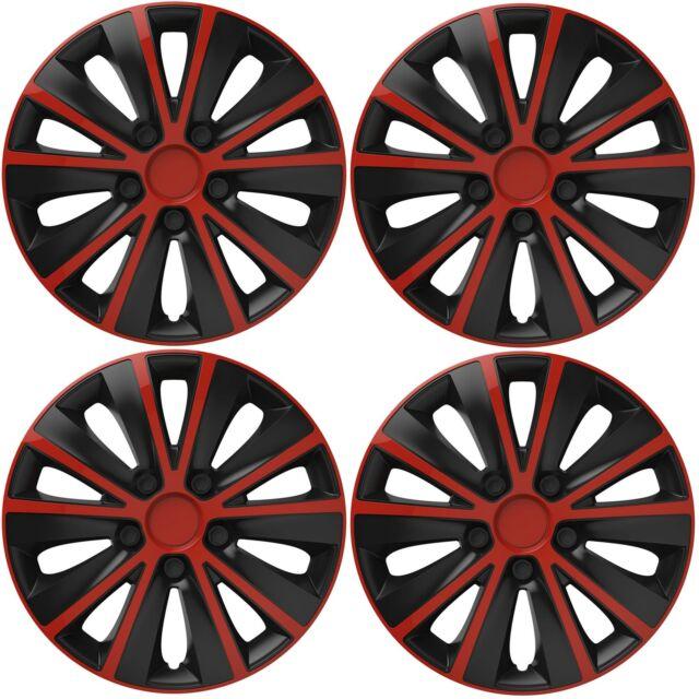 4x15/'/' Wheel trims fit VAUXHALL  black//red 15/'/'