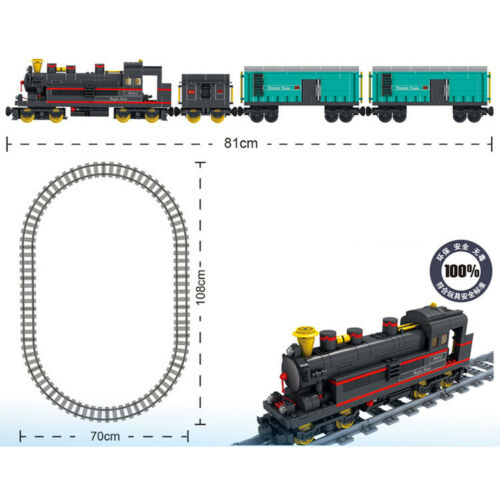 Large Battery Operated Train Railway Track Building Bricks Construction Blocks