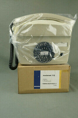 Vintage SIEMENS masterset 112 Wandtelefon kieselgrau neu OVP