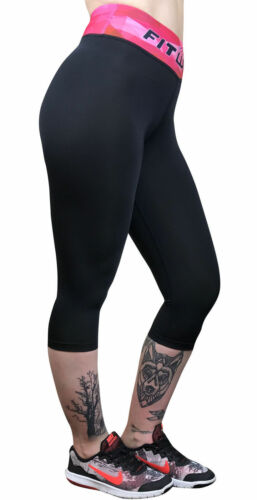 Womens Compression Leggings Exercise Pants 3//4 Trouser Yoga Gym Fitness Running