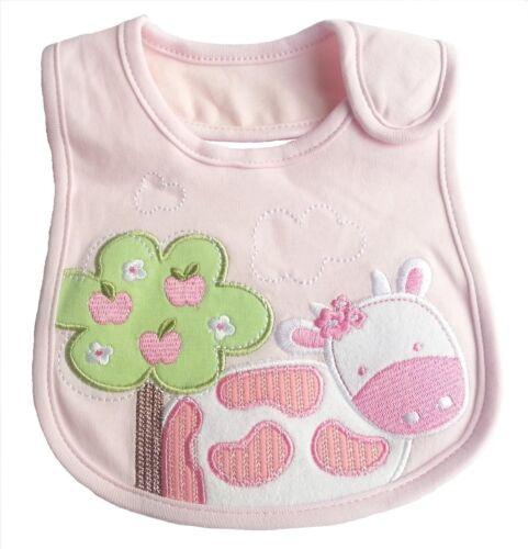 Carter/'s Newborn Baby Girl Pink Love Daddy Mommy Feeding Waterproof Cotton Bibs